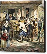 Puritans: Punishment, 1670s Canvas Print by Granger