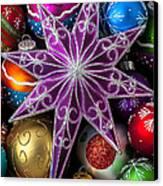 Purple Christmas Star Canvas Print by Garry Gay