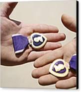 Purple Heart Recipients Display Canvas Print by Stocktrek Images