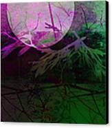 Purple Moon Canvas Print by Ann Powell