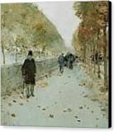 Quai Du Louvre Canvas Print by Childe Hassam