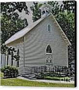 Quaker Church Pencil Canvas Print by Scott Hervieux