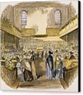 Quaker Meeting, 1843 Canvas Print by Granger
