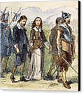 Quakers: Mary Dyer, 1659 Canvas Print by Granger