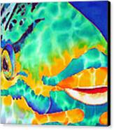Queen Parrotfish Canvas Print by Daniel Jean-Baptiste
