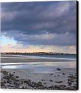 Quiet Winter Day At York Beach Canvas Print by John Burk