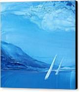 Racing Sailboats 6 Canvas Print by Danita Cole
