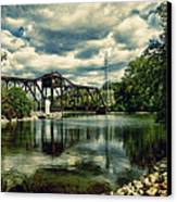 Rail Swing Bridge Canvas Print by Joel Witmeyer