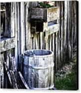 Rain Barrel Geranium Canvas Print by Melissa  Connors