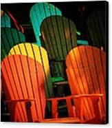Rainbow Chairs Canvas Print by Joyce Kimble Smith