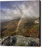 Rainbow Over Rough Ridge - Nc Autumn Scene Canvas Print by Rob Travis
