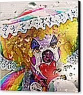 Rainy Day Clown Canvas Print by Steve Ohlsen