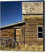 Ranchers House In Prairie Semi-ghost Canvas Print by Pete Ryan