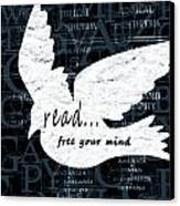 Read Free Your Mind Teal Canvas Print by Angelina Vick