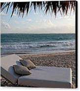 Ready To Relax On A Tropical Beach Canvas Print by Karen Lee Ensley