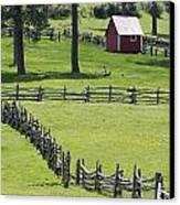 Red Barn On Highway 160 Near Pagosa Canvas Print by Rich Reid