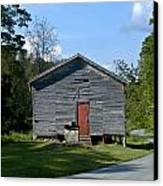 Red Door Of The One Room School House Canvas Print by Douglas Barnett