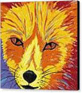 Red Fox Canvas Print by Peggy Quinn