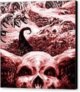 red Canvas Print by Martin Montiel