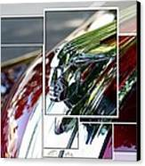 Red Pontiac Hood Ornament Canvas Print by Cathie Tyler