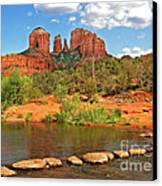 Red Rock Crossing Canvas Print by Clare VanderVeen