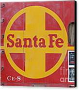 Red Sante Fe Caboose Train . 7d10333 Canvas Print by Wingsdomain Art and Photography