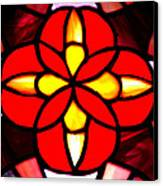 Red Stained Glass Canvas Print by LeeAnn McLaneGoetz McLaneGoetzStudioLLCcom
