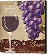 Red Wine Collage Canvas Print by Grace Pullen