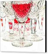 Red Wine Glass Canvas Print by Parinya Kraivuttinun