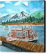 Redfish Lake Canvas Print by Don L Williams