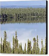 Reflection In Willow Lake Near Copper Canvas Print by Rich Reid