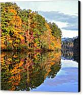 Reflections Of Autumn Canvas Print by Susan Leggett