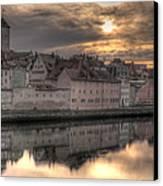 Regensburg Cityscape Canvas Print by Anthony Citro