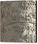 Relief. Detail View Of The Trajan Column. Rome Canvas Print by Bernard Jaubert
