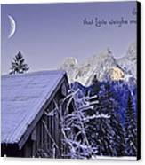 Remember This December Canvas Print by Sabine Jacobs