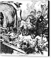 Republican Elephant, 1874 Canvas Print by Granger