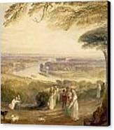Richmond Terrace Canvas Print by Joseph Mallord William Turner