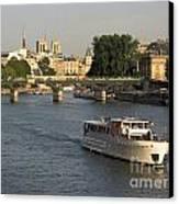 River Seine In Paris Canvas Print by Bernard Jaubert