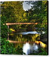 River Walk Bridge Canvas Print by Greg and Chrystal Mimbs