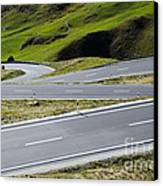 Road With Curves Canvas Print by Mats Silvan