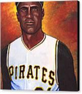 Roberto Clemente Canvas Print by Steve Benton