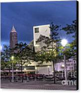 Rock And Roll Plaza Canvas Print by David Bearden