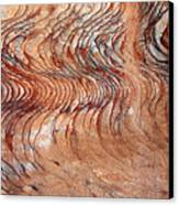 Rock Formation At Petra Jordan Canvas Print by Eva Kaufman