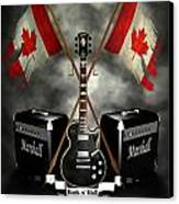 Rock N Roll Crest- Canada Canvas Print by Frederico Borges