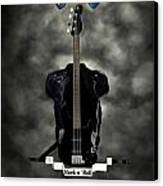 Rock N Roll Crest-the Bassist Canvas Print by Frederico Borges