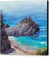 Rocky Coast Big Sur  Canvas Print by Graham Gercken