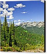 Rocky Mountain View From Mount Revelstoke Canvas Print by Elena Elisseeva