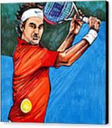Roger Federer Canvas Print by Dave Olsen