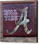Roll Tide - Small Canvas Print by Racquel Morgan