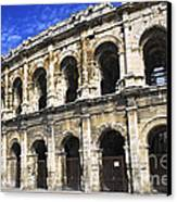 Roman Arena In Nimes France Canvas Print by Elena Elisseeva